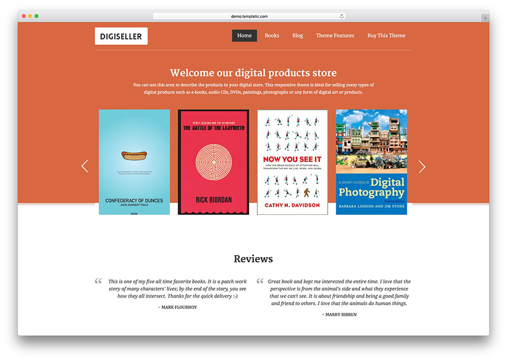 Best wordpress themes for selling digital products 2018 colorlib digiseller ebook digtital product store fandeluxe Images