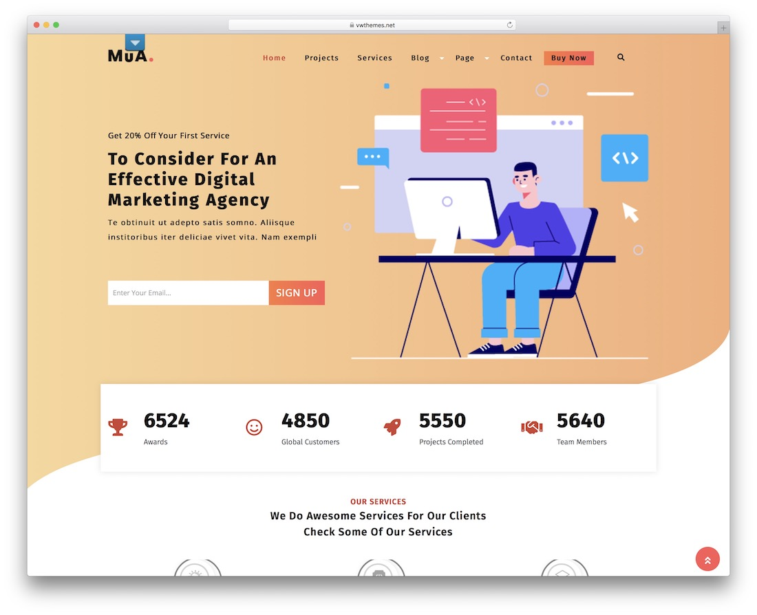 digital agency lite free wordpress theme