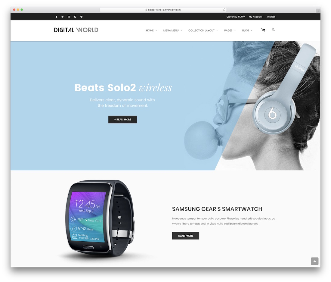 digital world shopify technology theme