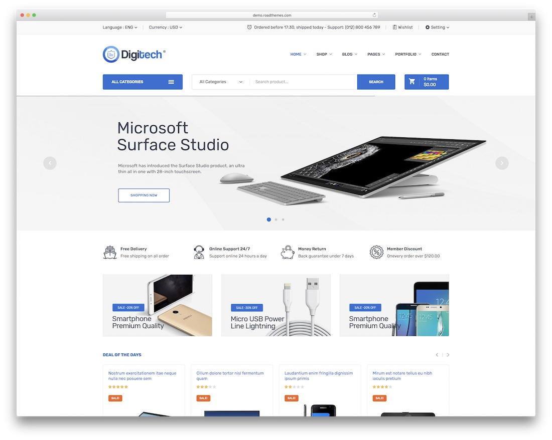 digitech technology woocommerce theme