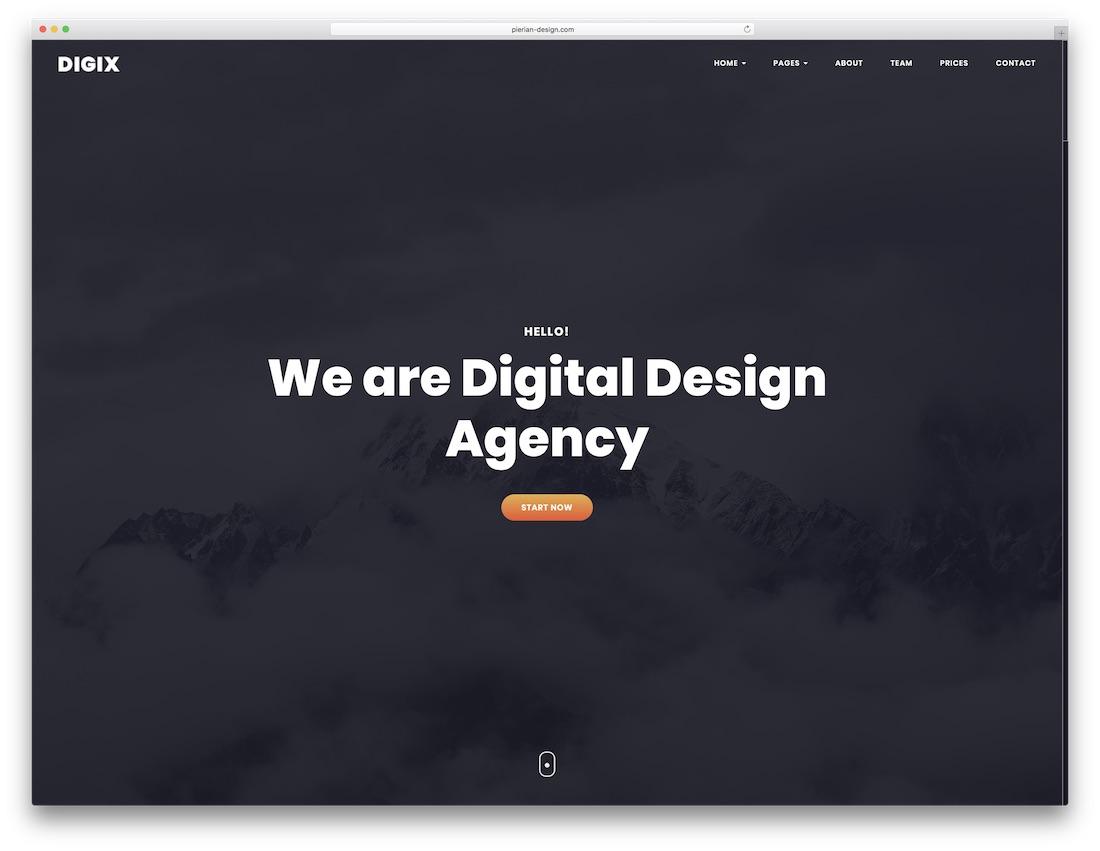 digix bootstrap website template