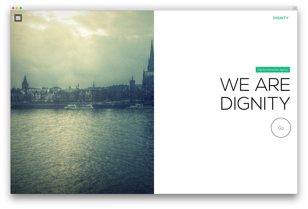 dignity - creative agency theme