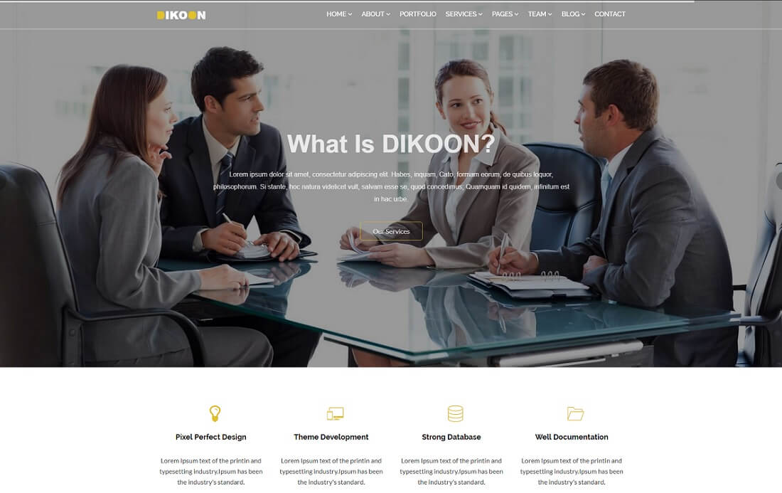 dikoon cryptocurrency website template
