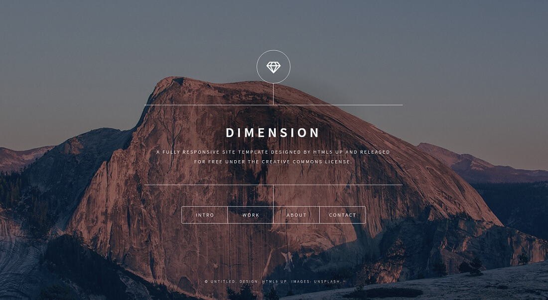 dimension free HTML website template