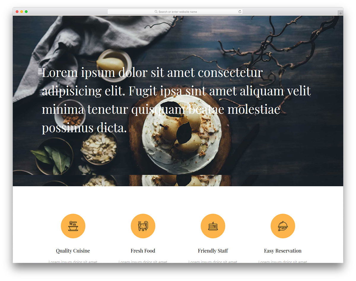 17 best free restaurant website template 2018 colorlib