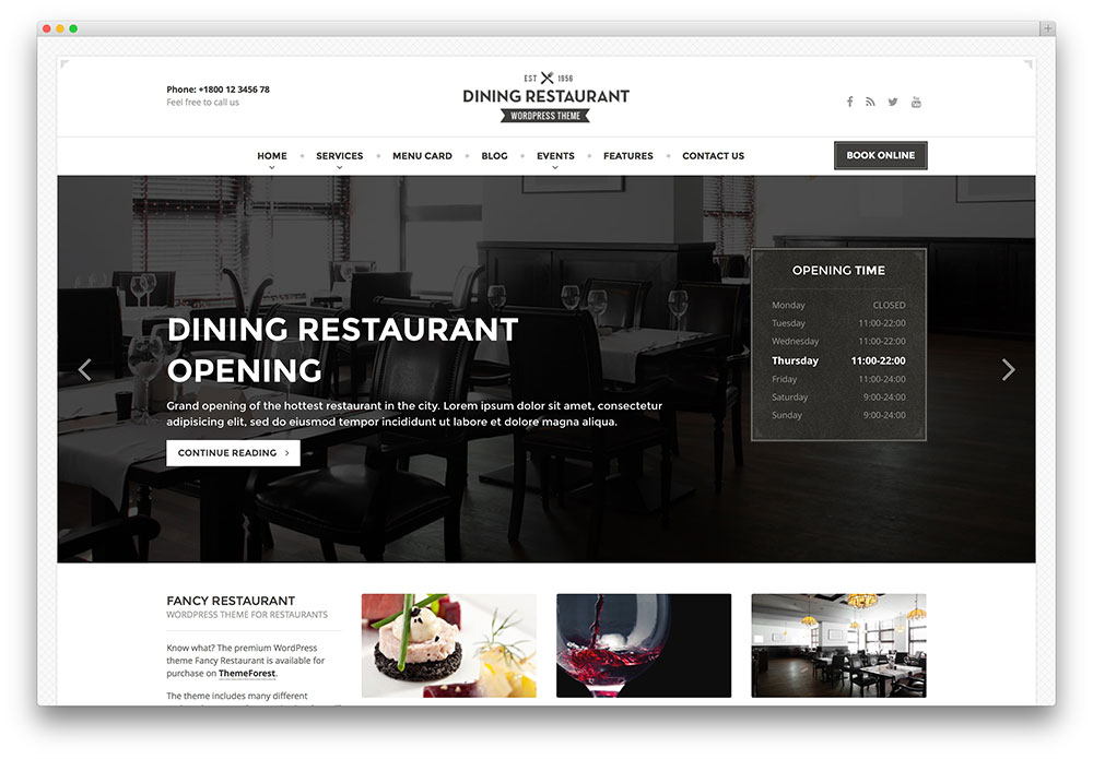 dining - classic restaurant theme