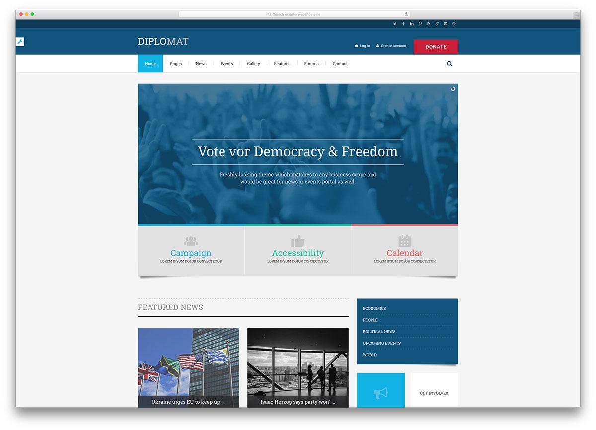 diplomat-classic-political-wordpress-theme