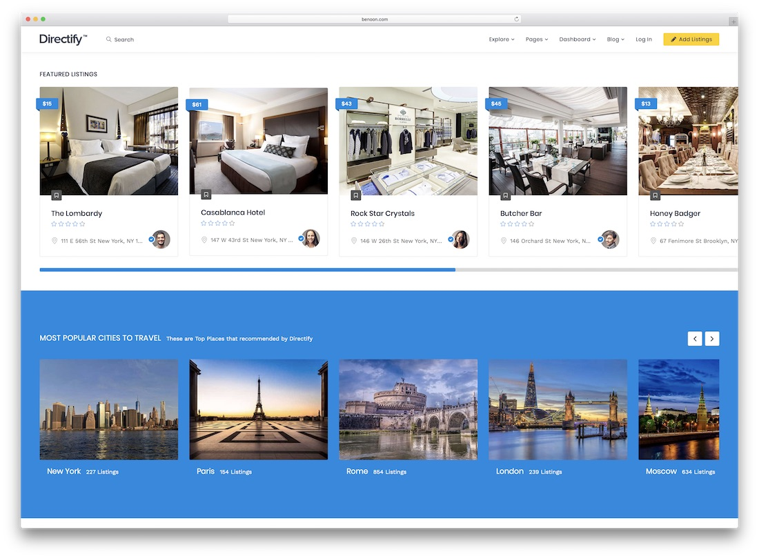 directify directory website template