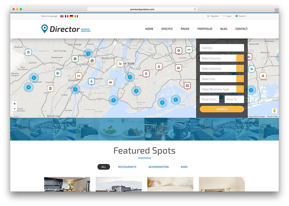 Top 18 Responsive HTML5 Directory Website Templates 2017 - Colorlib