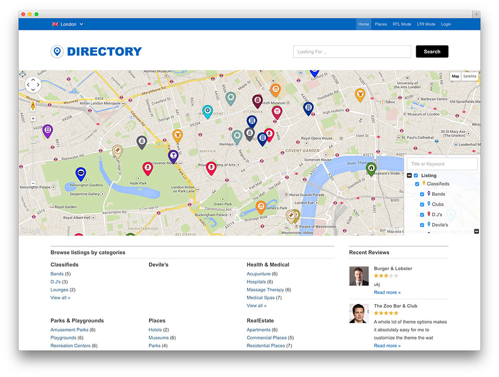 directory - advanced wordpress theme