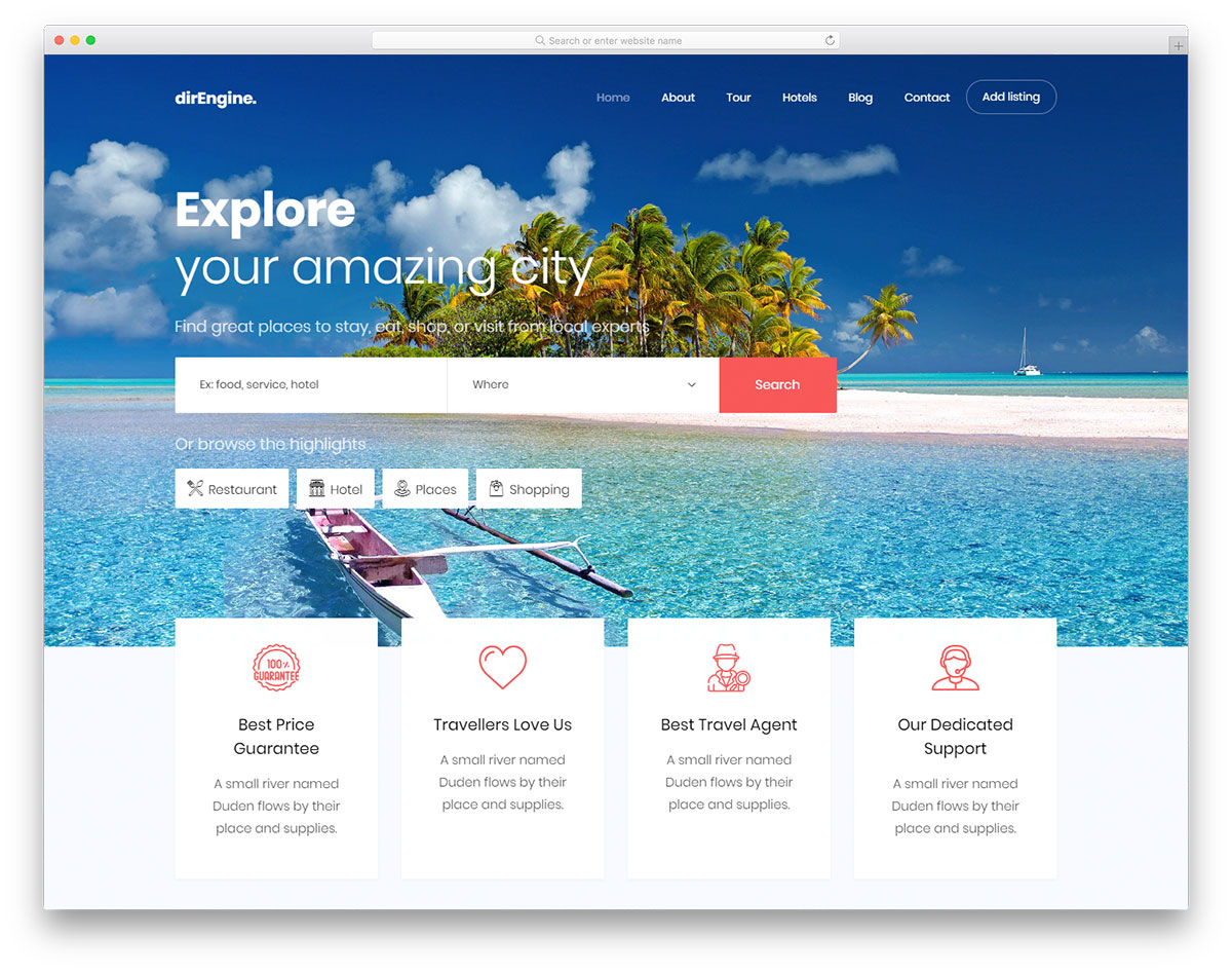 Free travel website templates best premium travel agency templates.