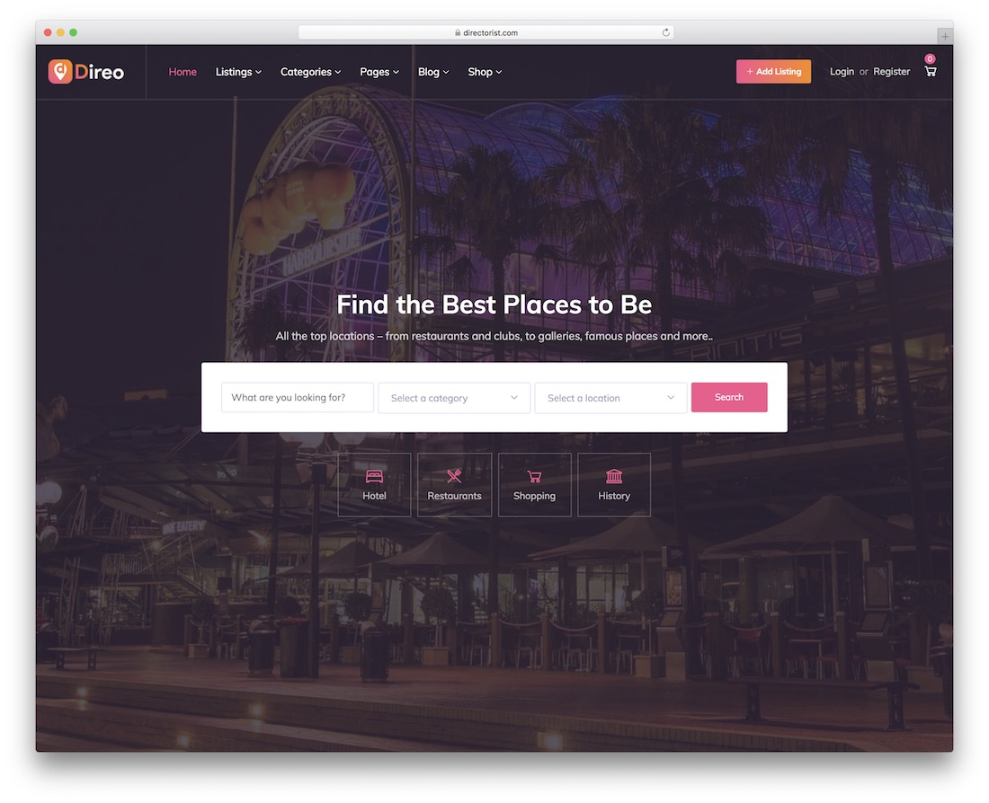 direo directory website template