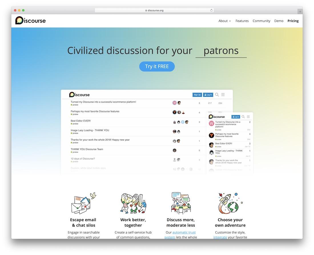 discourse social engagement platform