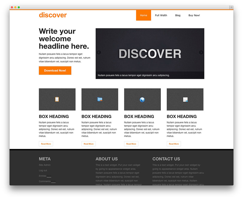 discovere WordPress theme