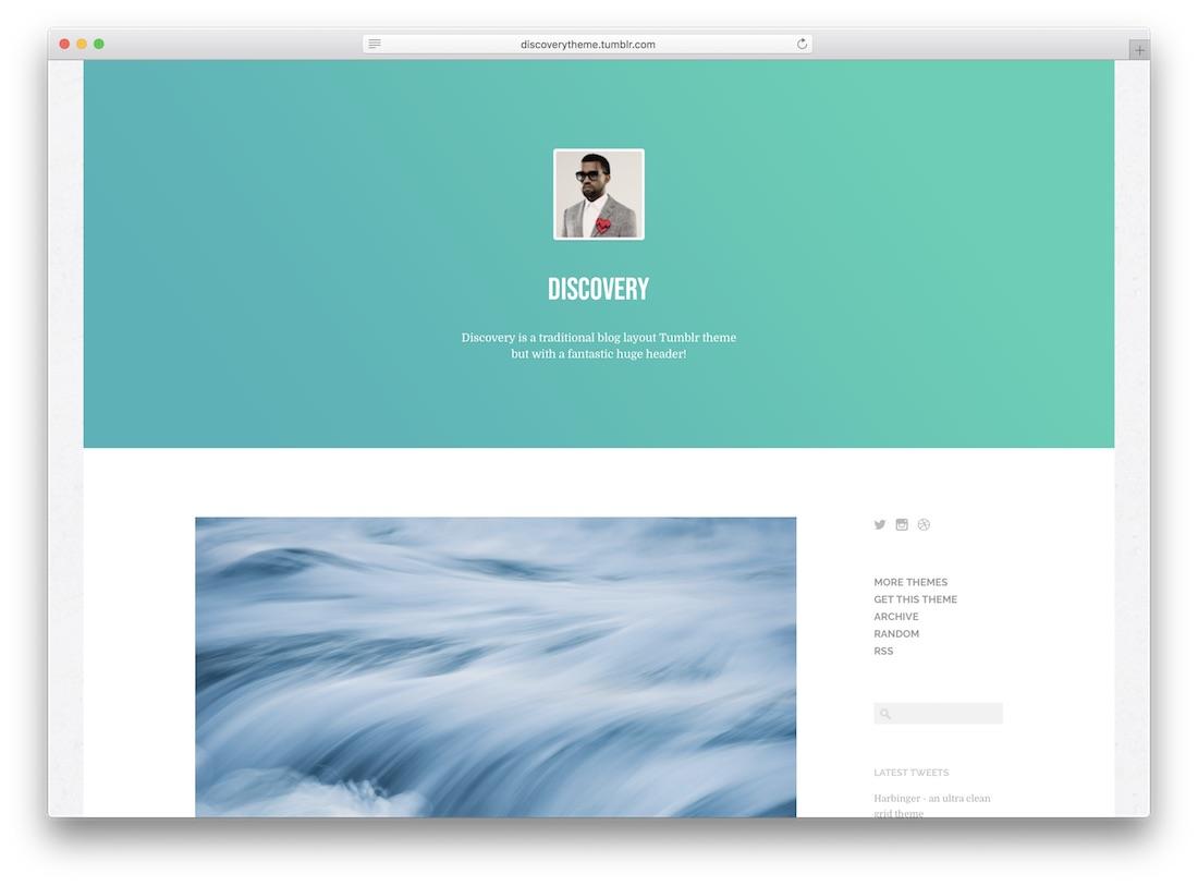 discovery tumblr theme