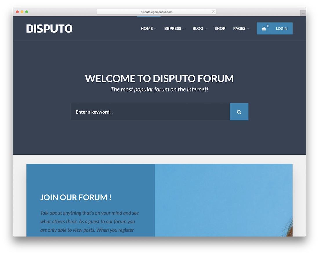 disputo wordpress tech support theme