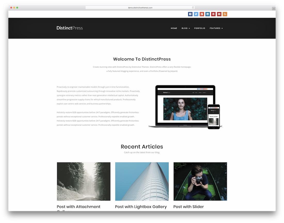 distinctpress website template