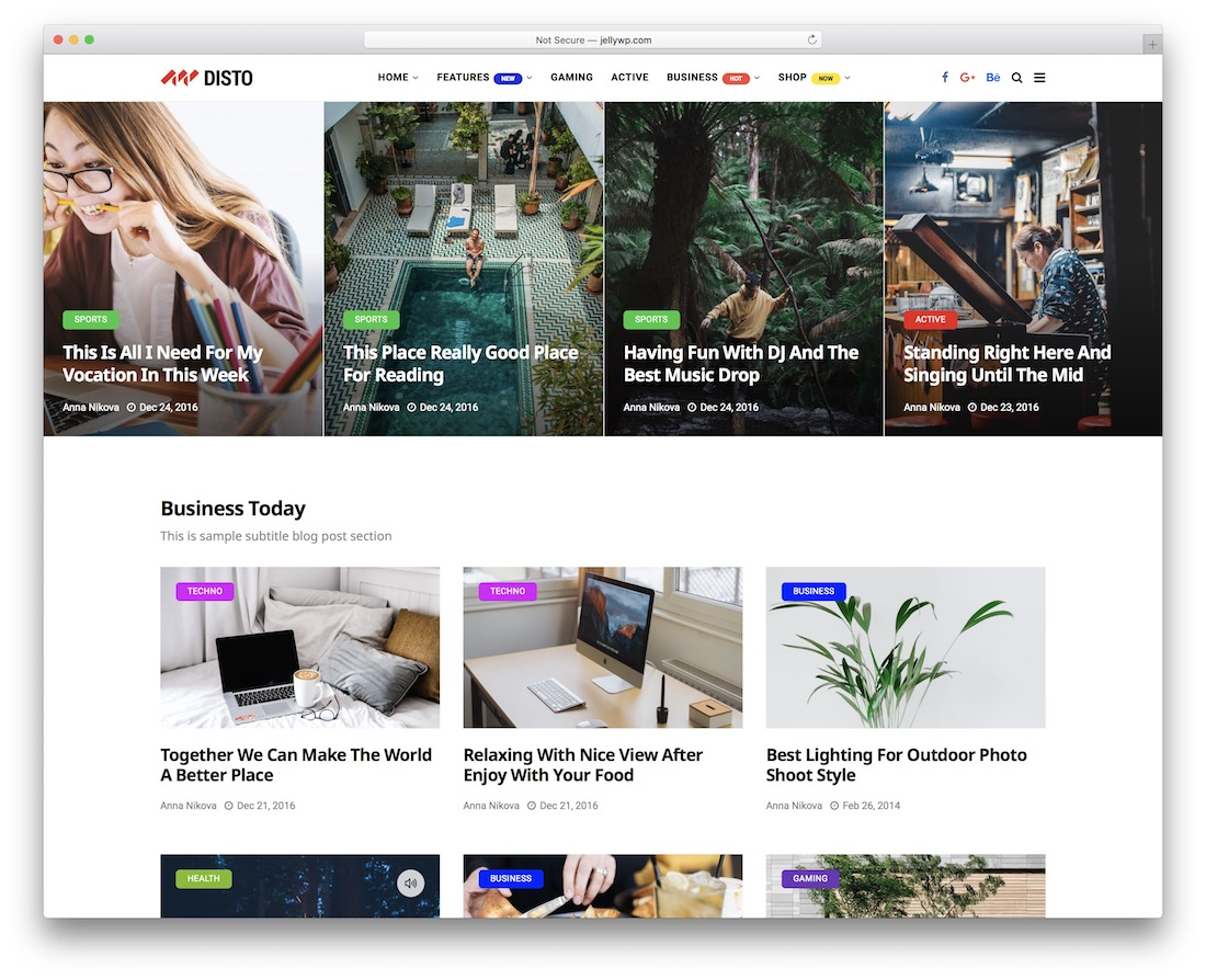 disto wordpress newspaper theme