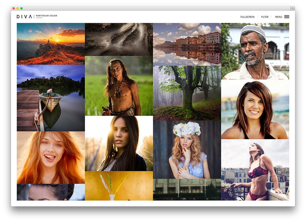 diva attractive photographer theme