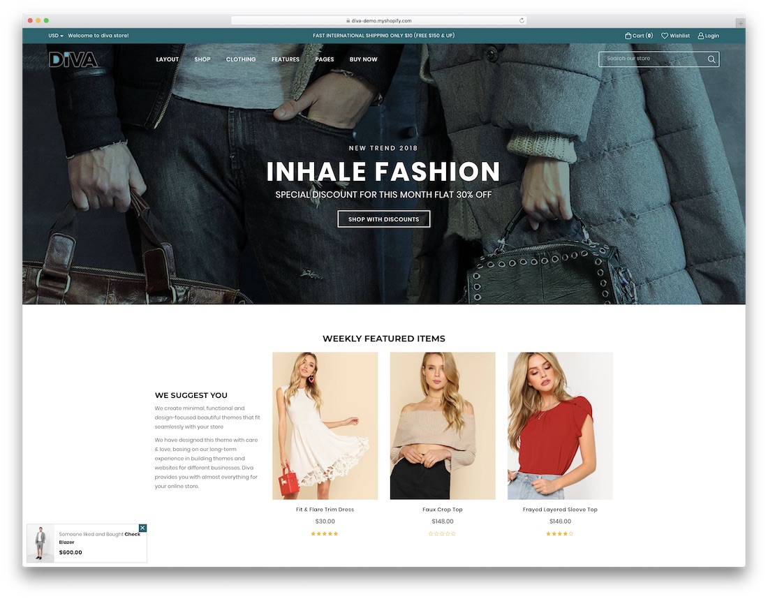 diva fashion shopify theme