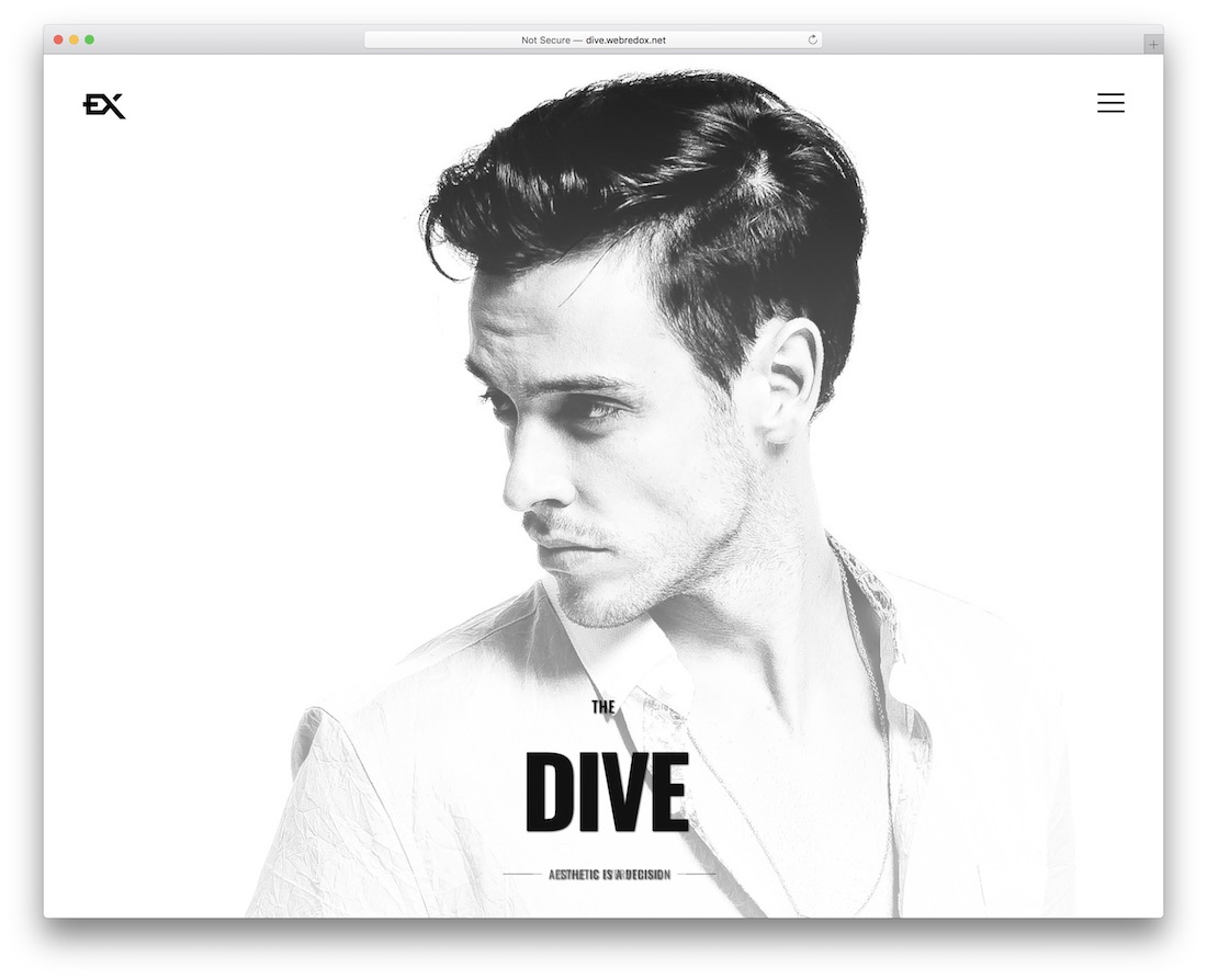 dive one-page business theme