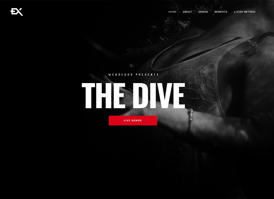 Dive | One Page Portfolio WordPress Theme