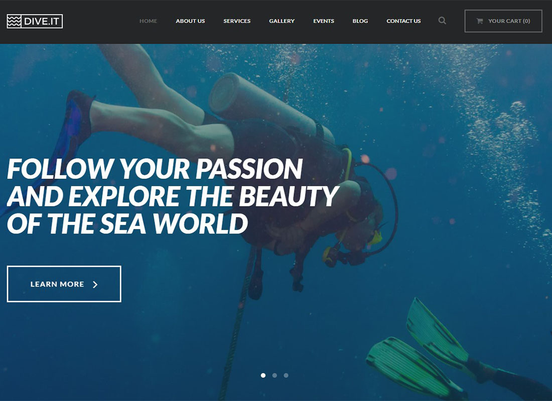 DiveIt | Scuba Diving School WordPress Theme