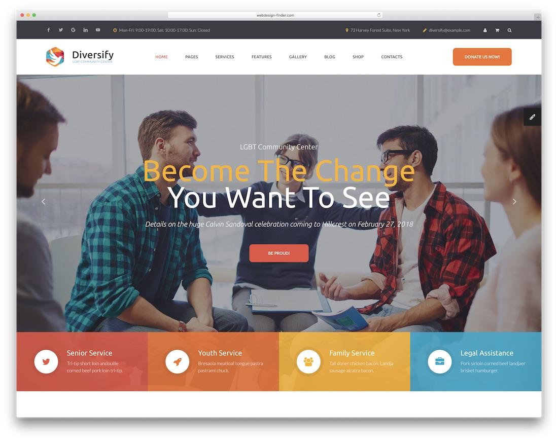 diversify community website template
