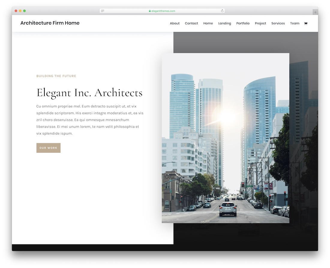 divi architect website template