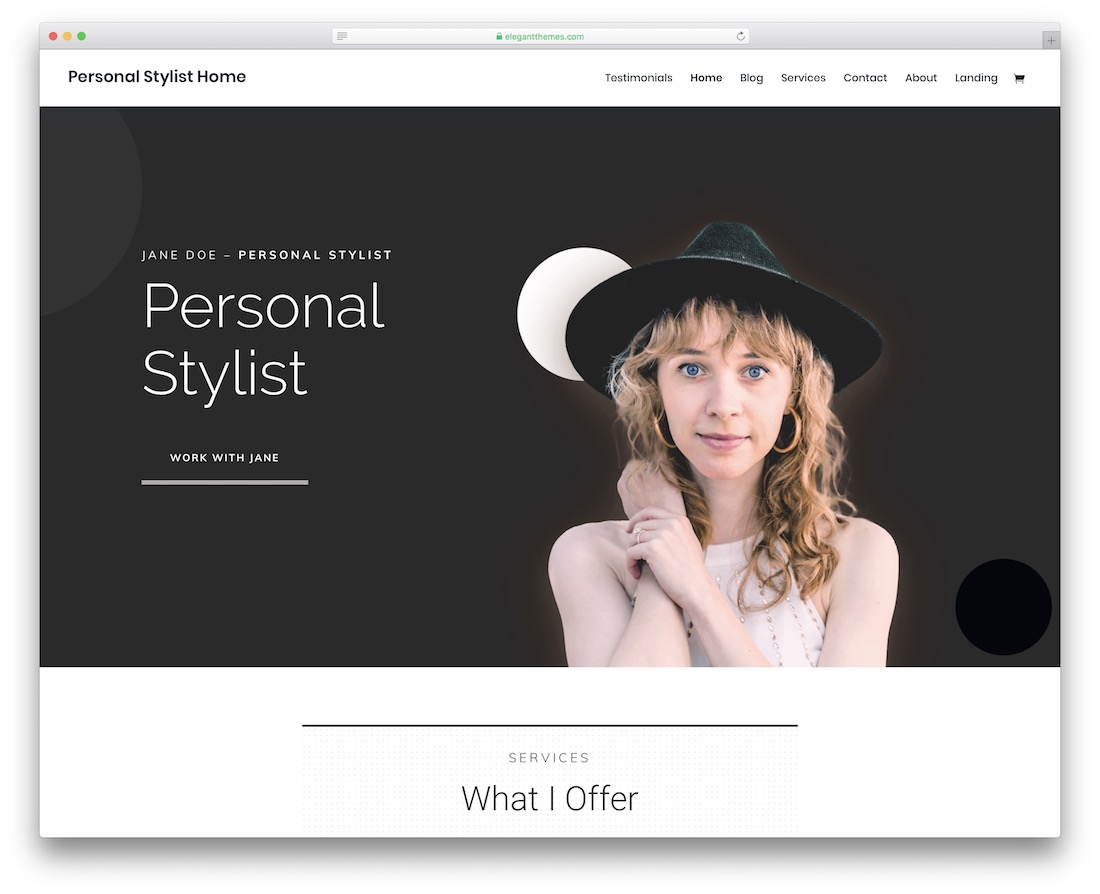 divi bootstrap personal website template