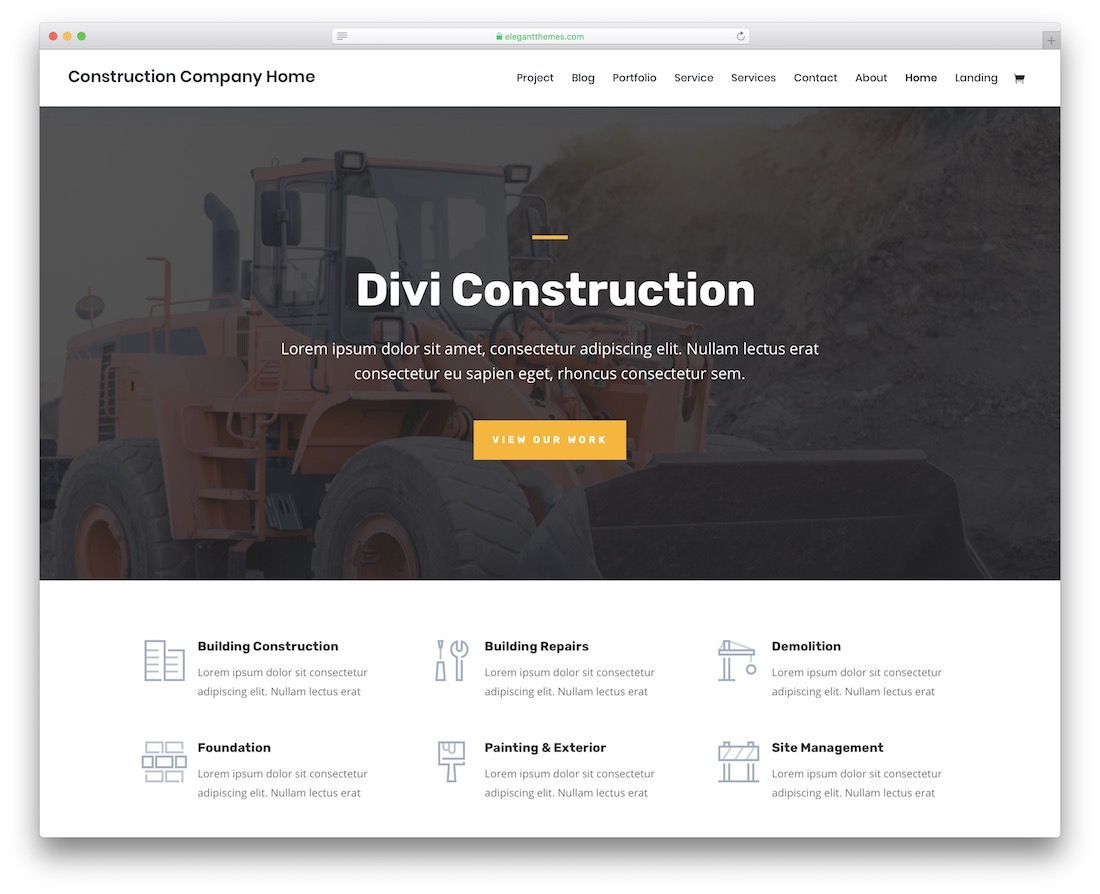 23 Best Free Construction Website Templates 2019 - Colorlib