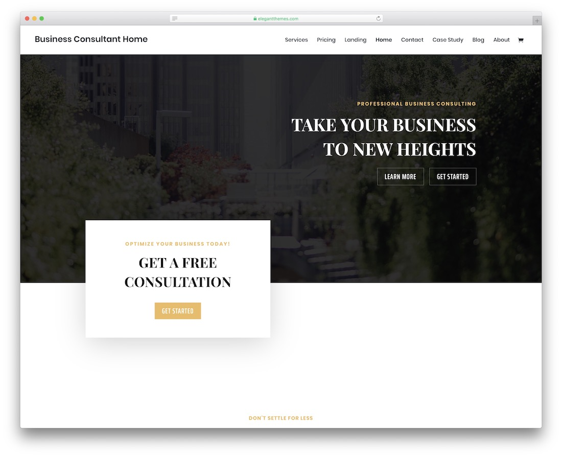 divi consulting website template