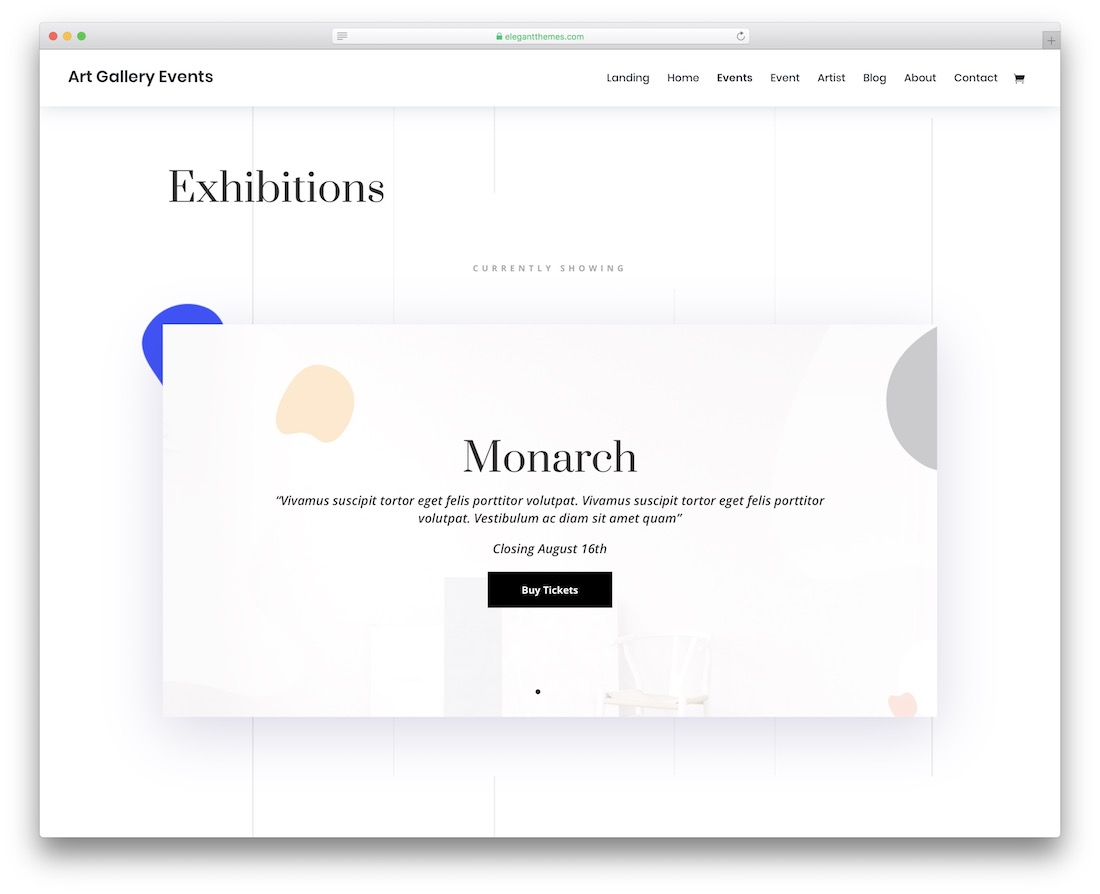 divi event website template