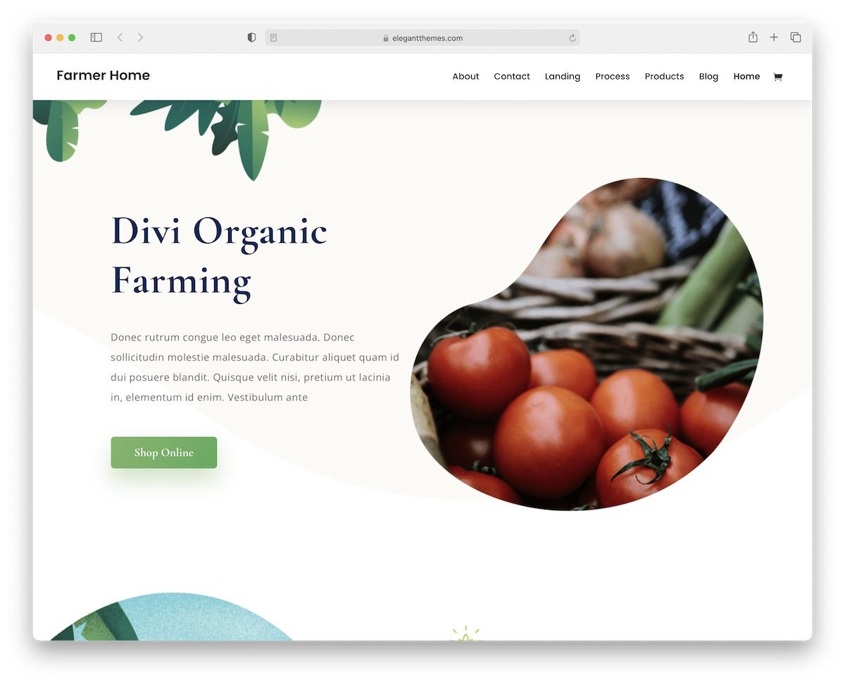 divi farming wordpress theme