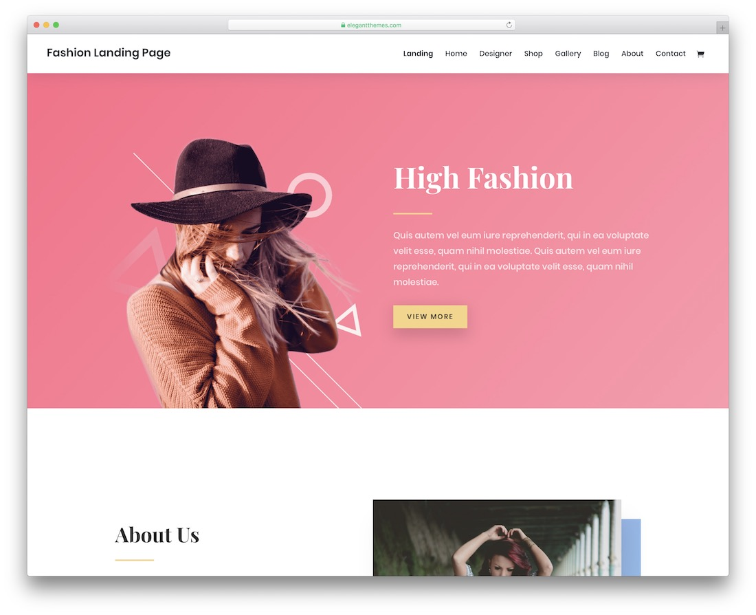 divi fashion website template