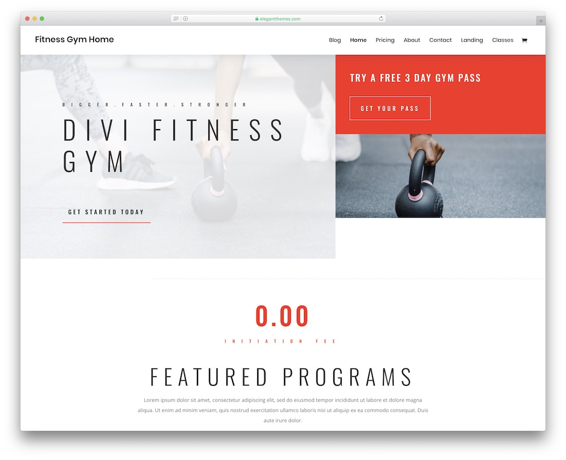 18 Best Free Fitness Website Templates For A Solid Page 2019