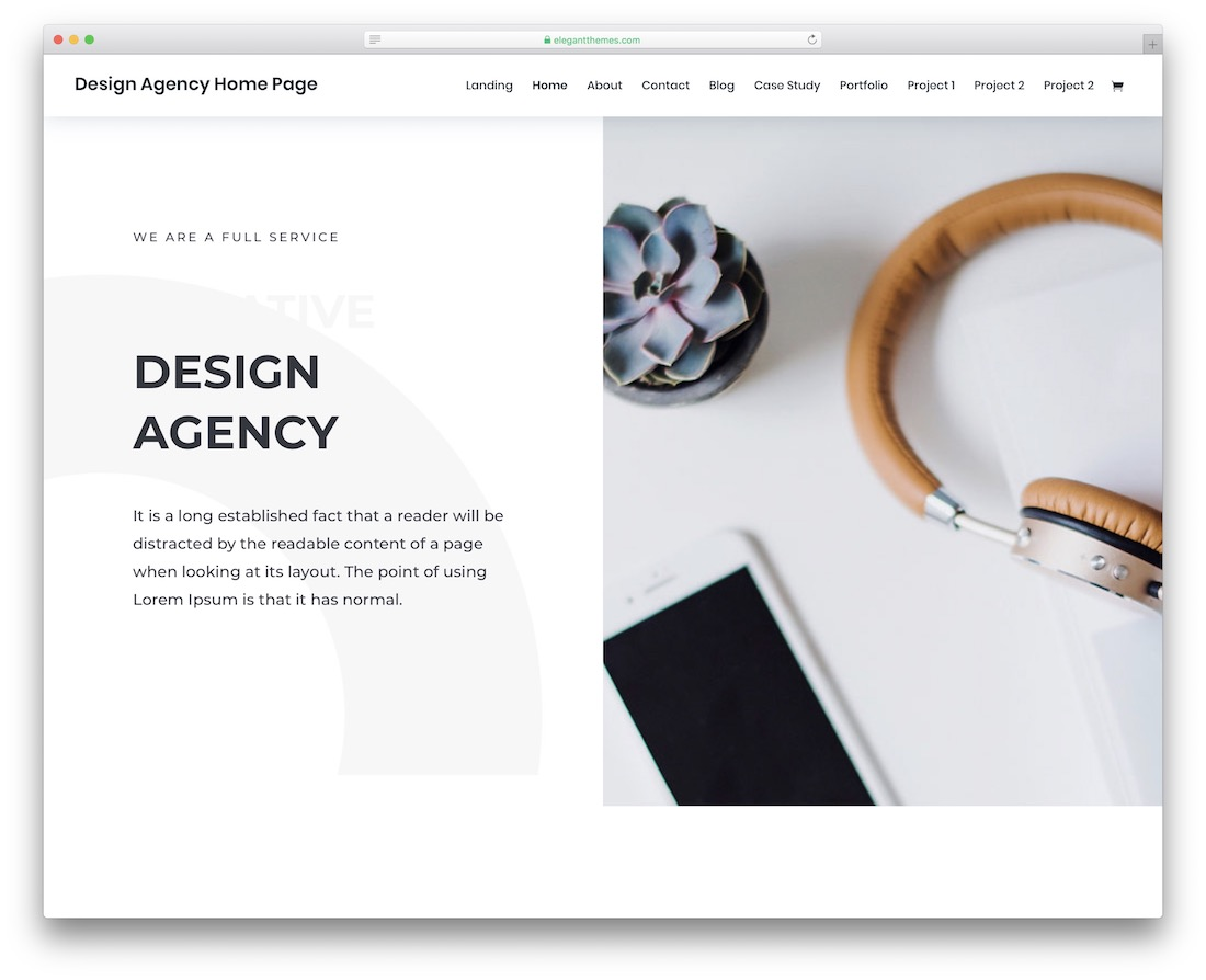 divi graphic design website template