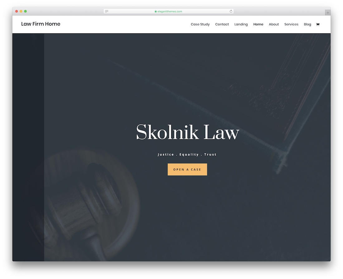 divi lawyer website template