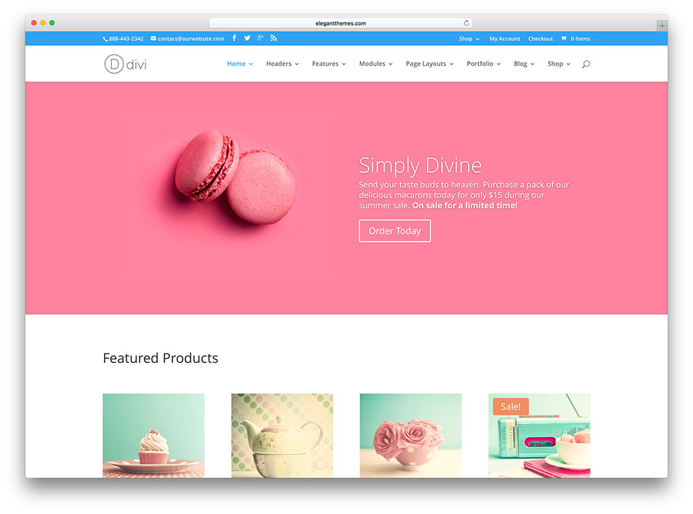 divi - girly business theme