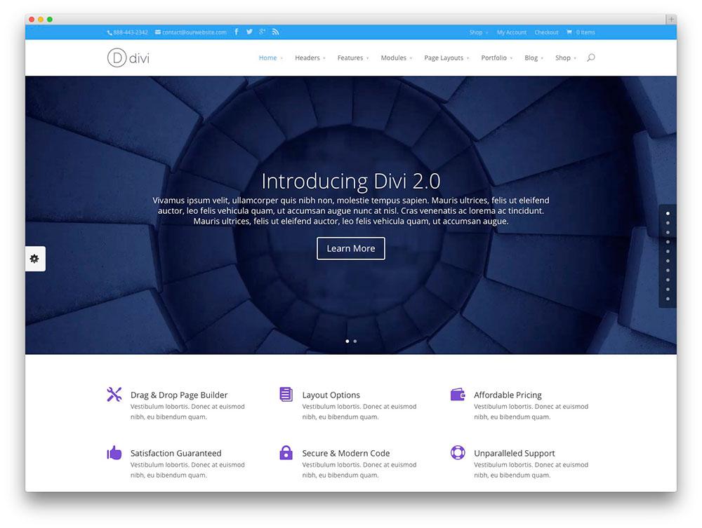 divi - Popular WordPress theme