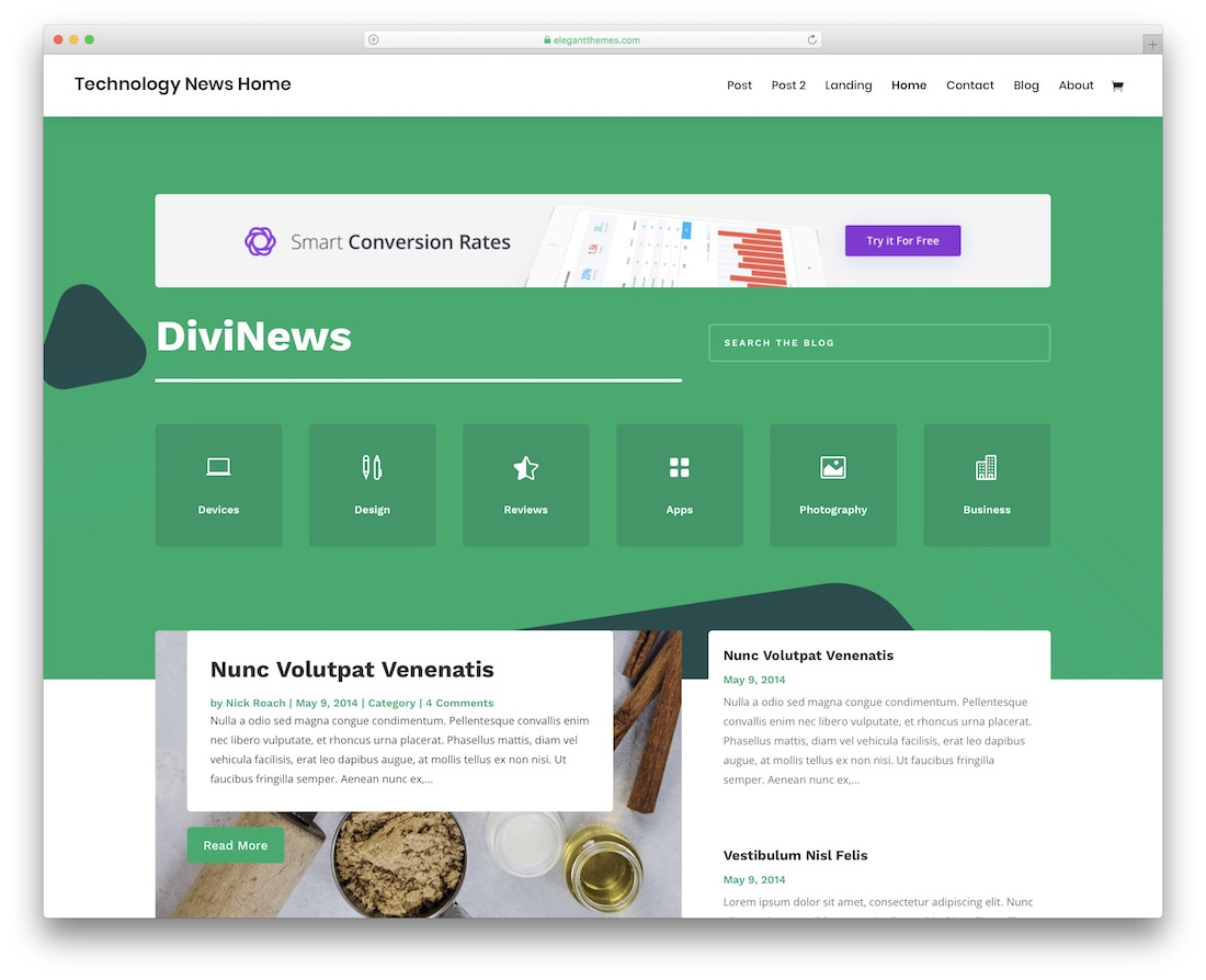 divi news website template