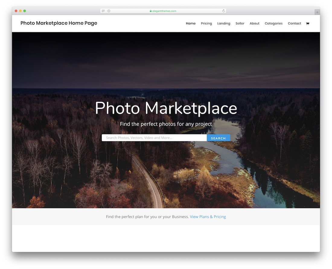 divi photography website template