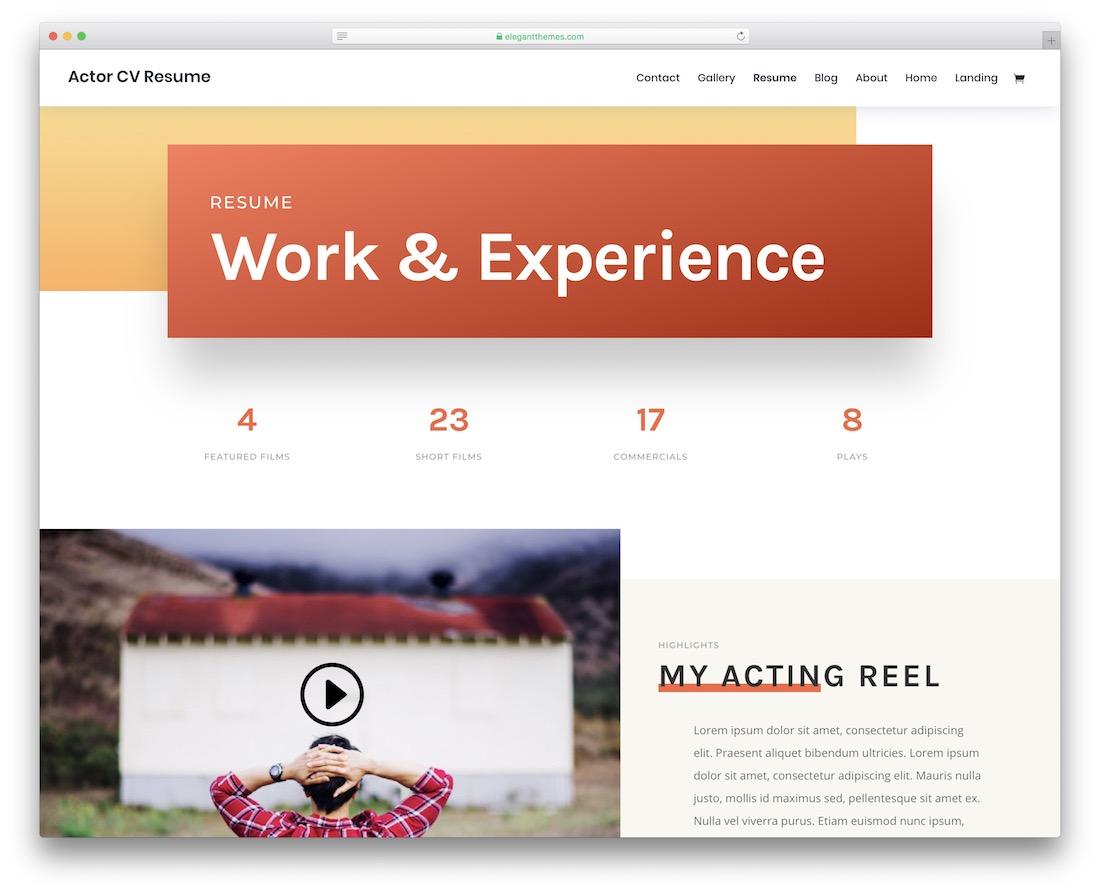 32 Best Html5 Resume Templates For Personal Portfolios 2020 Colorlib