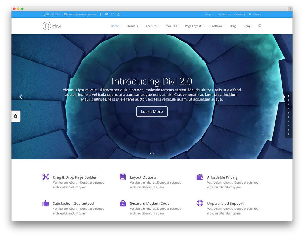 Divi - Tech Startup theme
