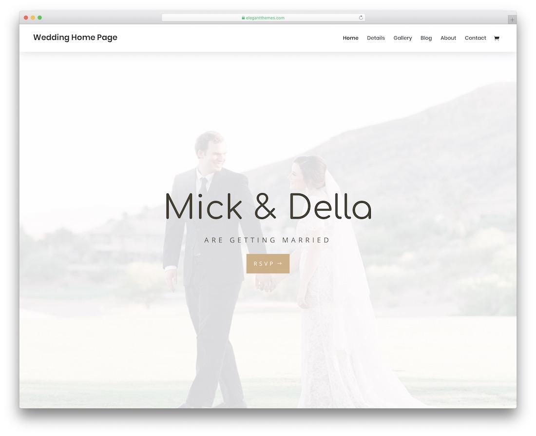 divi wedding website template
