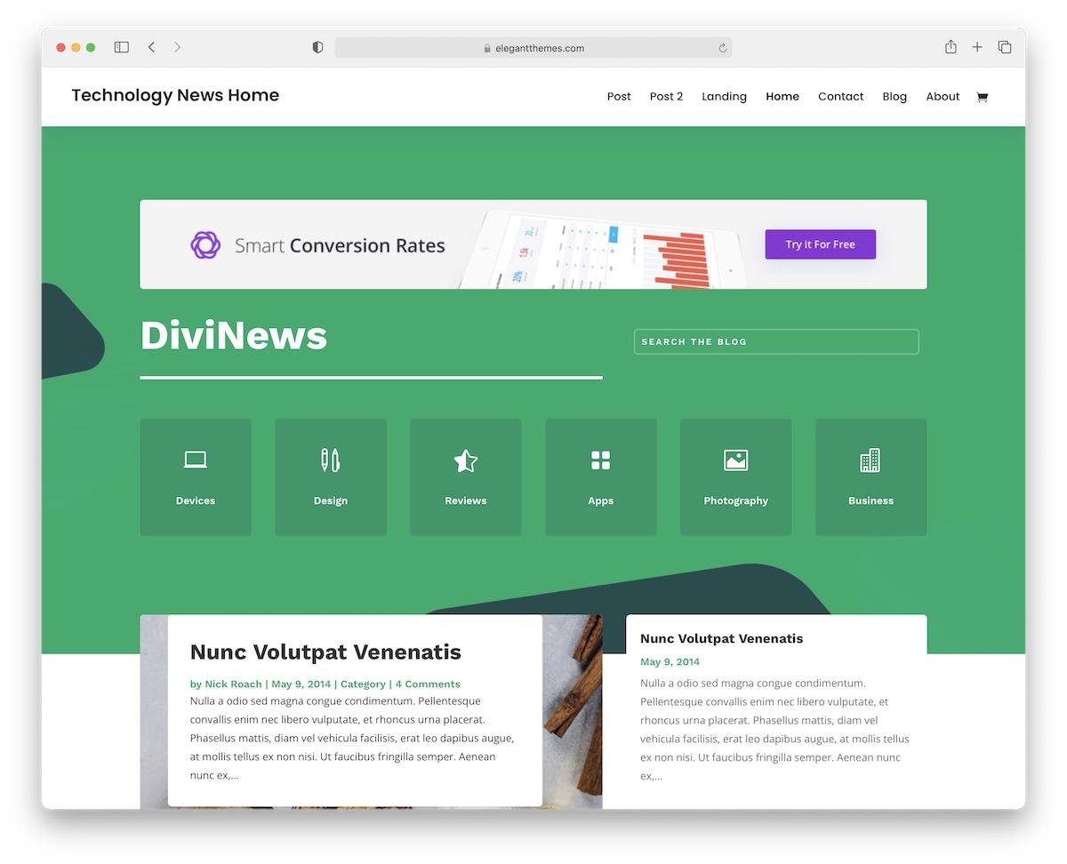 divi wordpress technology theme