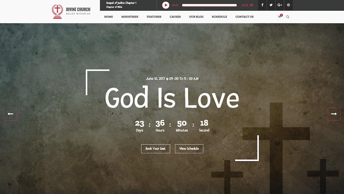 divine church website template