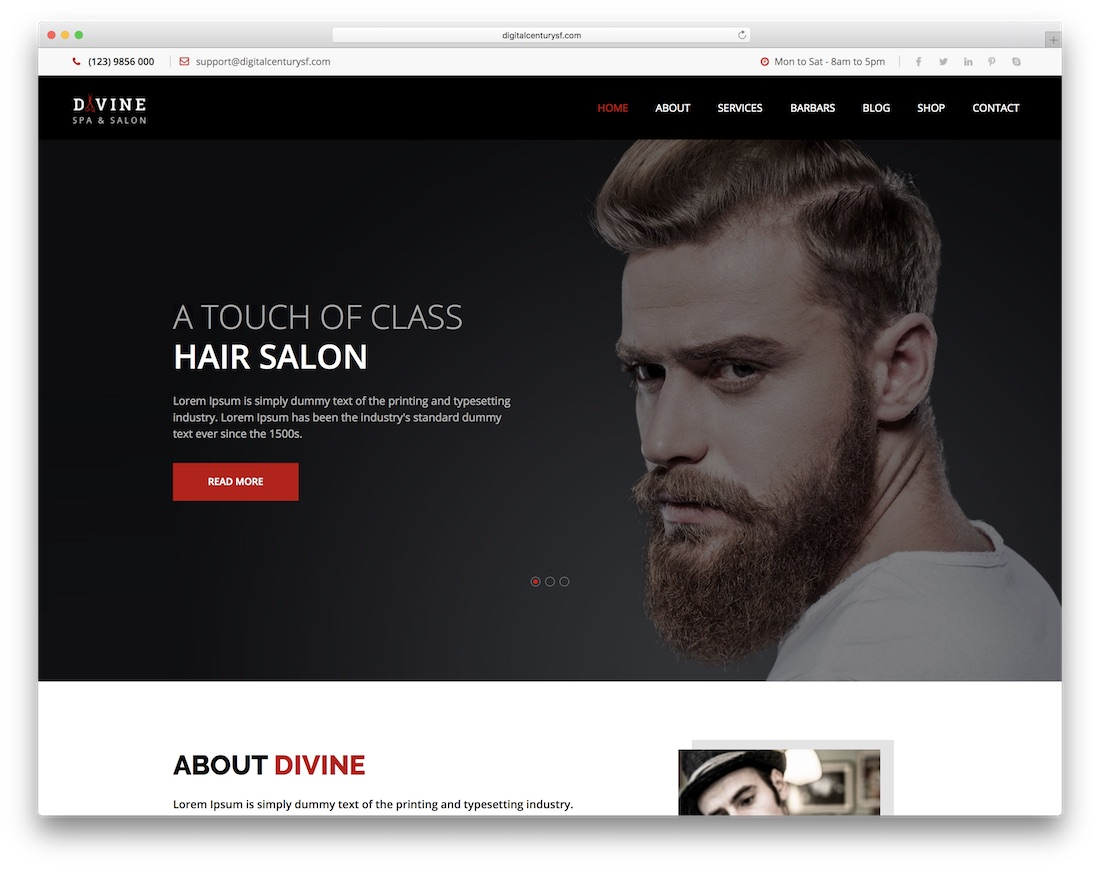 divine ecommerce adobe muse template