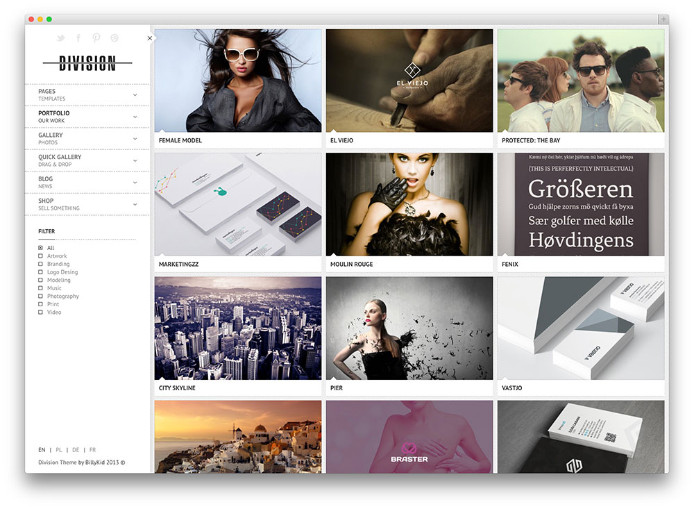 division - light photography theme