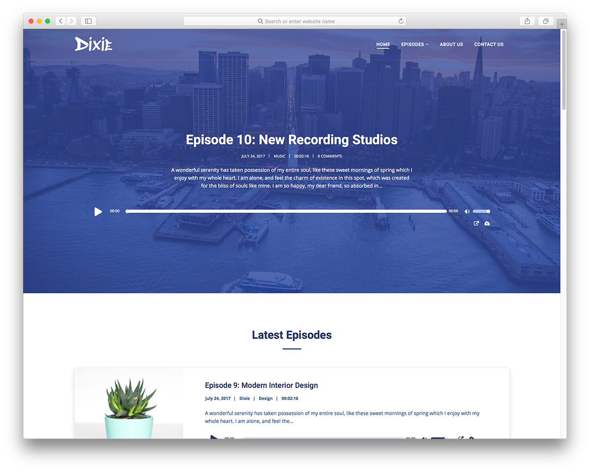 Most Functional WordPress Podcasting Themes Colorlib - Podcast website template